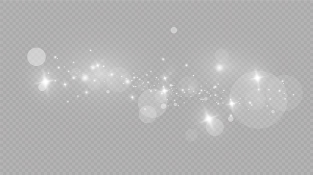 Fallender schnee auf grau, vektor. weihnachtswetter. hintergrund. glühender lichteffekt