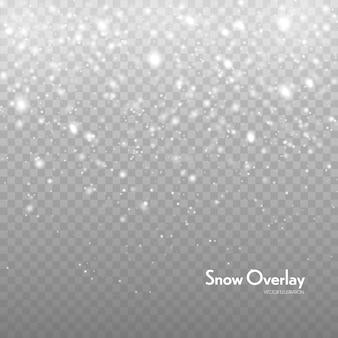 Fallender schnee vektor hintergrund. schneefall