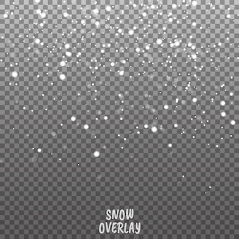 Fallender schnee vektor hintergrund. weihnachtsdekorationshintergrund mit snoflakes