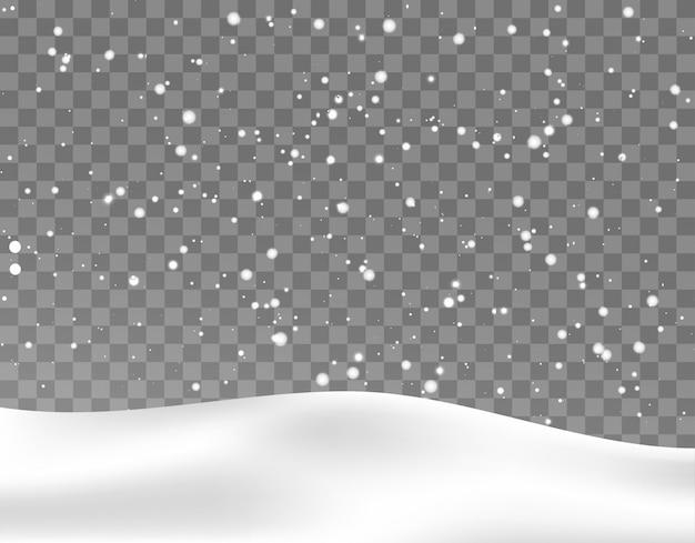 Fallender schnee weihnachtshintergrund vecto