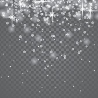 Fallender transparenter stern-staub-lichteffekt