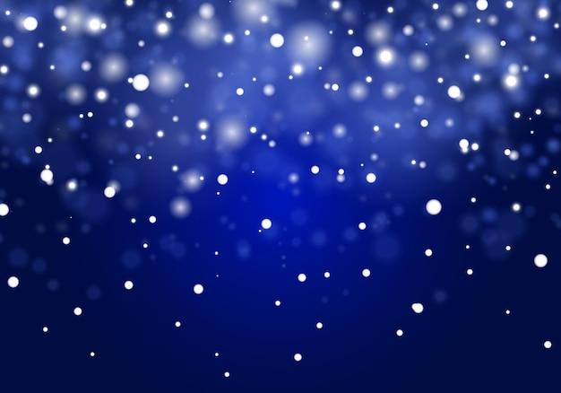 Fallender weihnachtsschnee. schneeflocken, starker schneefall.