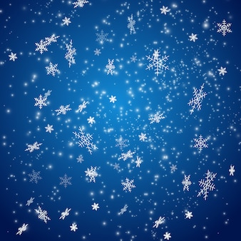 Fallender weihnachtsschnee.