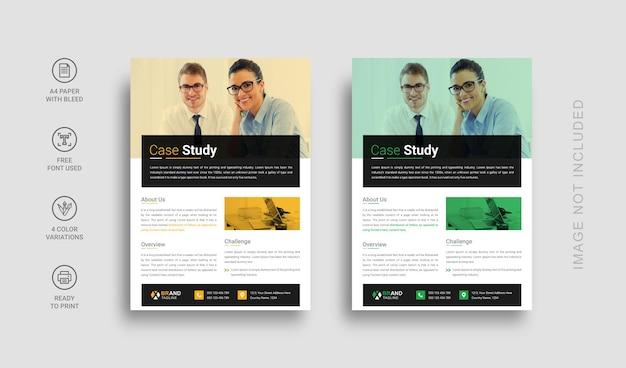 Fallstudien-flyer-vorlagendesign