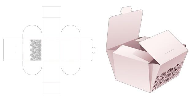 Faltbare bäckereiverpackung mit schablonenwellen-stanzschablone