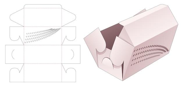 Faltbare bekery-box mit schablonen-halbtonpunkten gestanzte schablonen-kopie