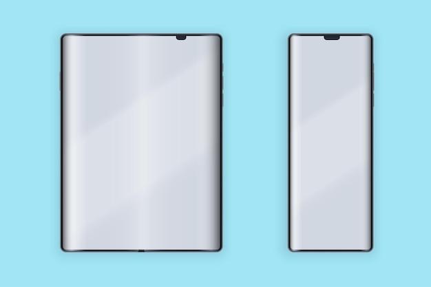 Faltbares layout der smartphone-benutzeroberfläche