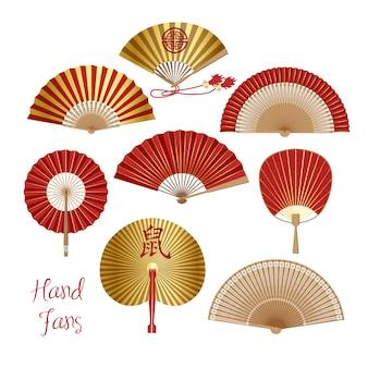Faltfächer aus chinesischem und japanischem papier.