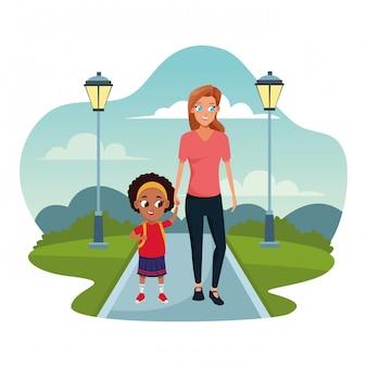 Familie alleinerziehende mutter mit kind