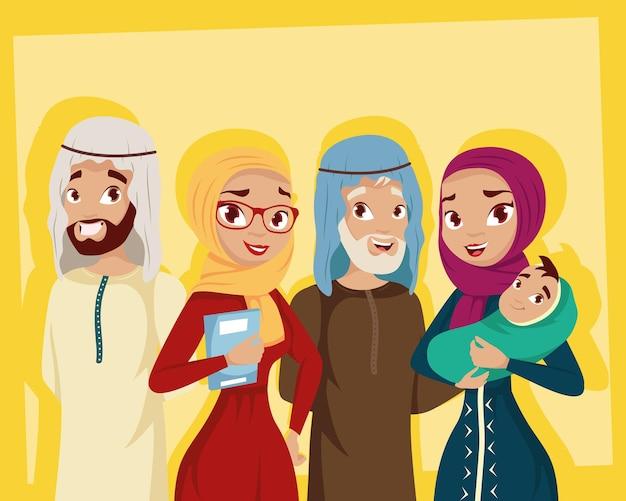 Familie der muslimischen kultur