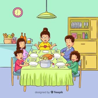 Familie essen
