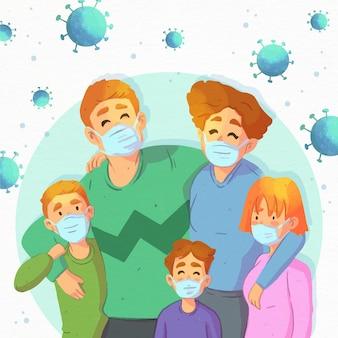 Familie sicher vor dem virus