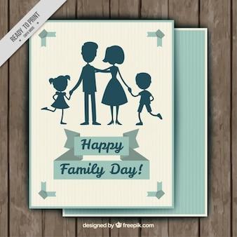 Familie silhouetten gruß