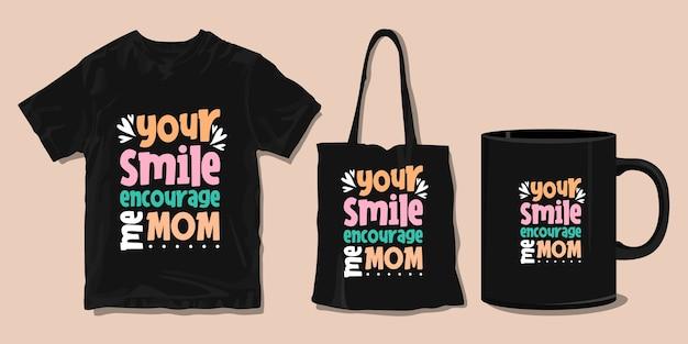 Familie t-shirt typografie zitate. waren für den druck