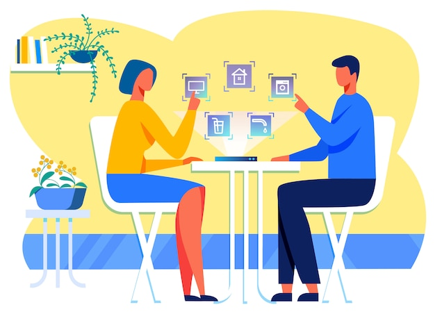 Familie unter verwendung der interaktiven haussteuerungsschnittstelle