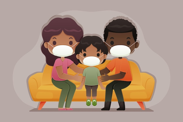 Familie vor dem virus geschützt