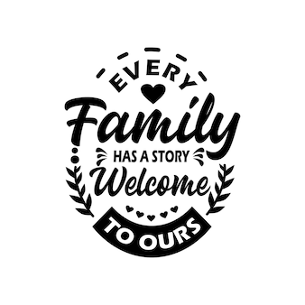 Familie zitate svg design schriftzug vektor