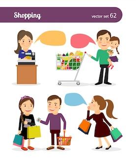 Familien einkaufen