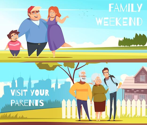 Familien horizontale banner