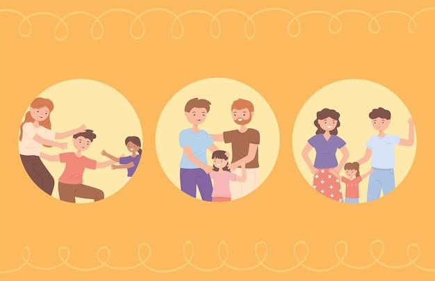 Familien und adoptierte kinder