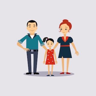Familien- und bildungsversicherungsillustration