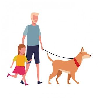Familien- und kinder-cartoon