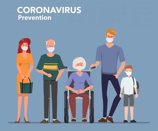 Familienangehörige blieben zu hause, um die verbreitung des coronavirus covid-19 zu vermeiden.