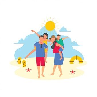 Familienausflug urlaub urlaub