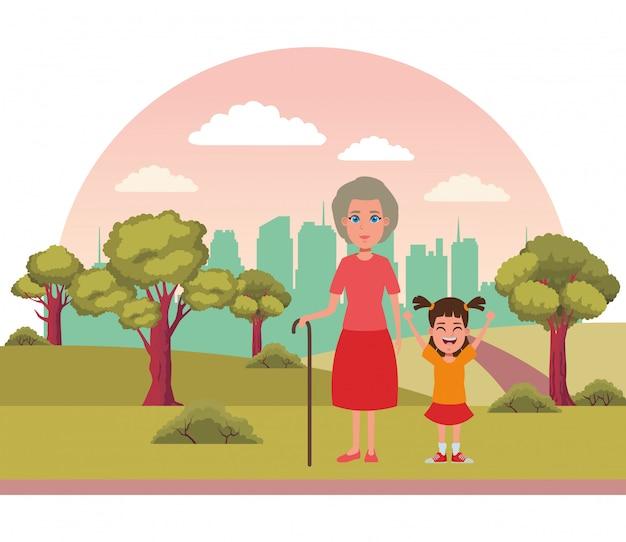 Familienavatara-zeichentrickfilm-figur-porträt