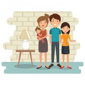 Familieneltern in der hausplatzszene