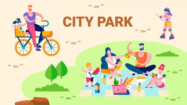 Familienerholung im city park promo flat