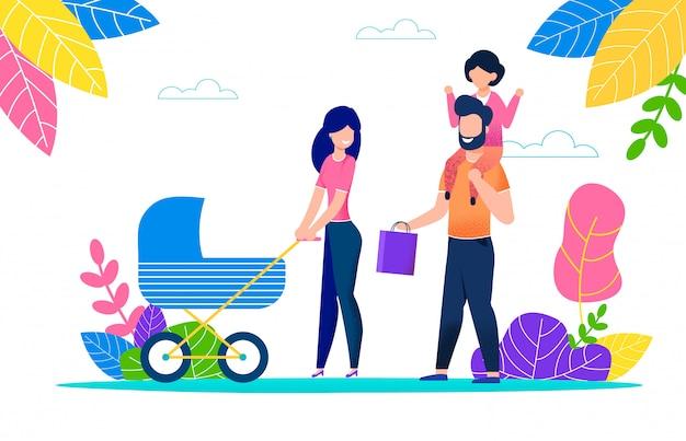 Familienerholung im freien an einem heißen sommertag