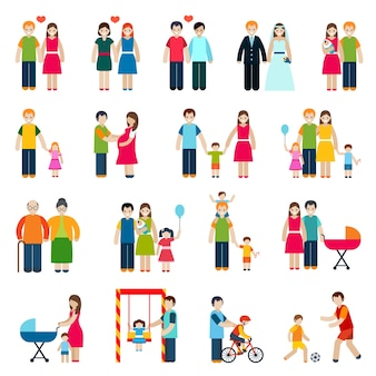 Familienfiguren icons