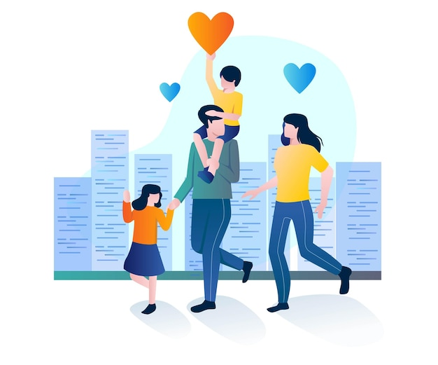 Familienglück im namen der liebe