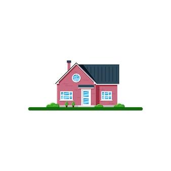 Familienhaus. immobilien, bauindustrie konzept. flache illustration