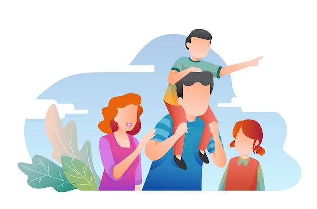 Familienillustration