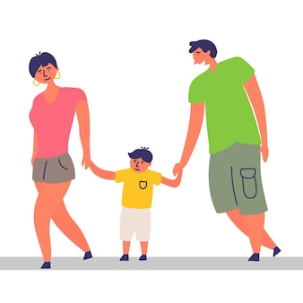 Familienkind verbringt zeit zusammen