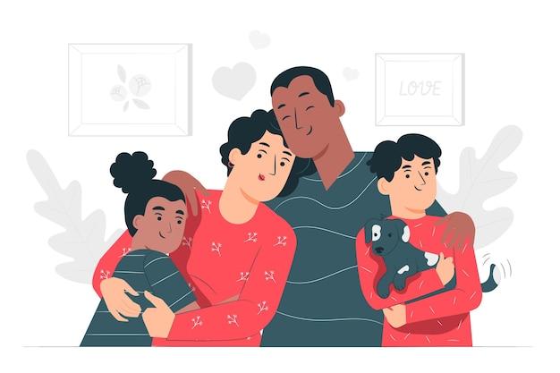 Familienkonzeptillustration