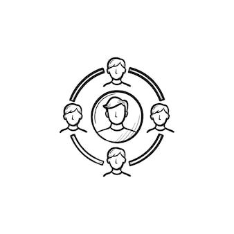 Familienkreis hand gezeichnetes umriss-doodle-symbol