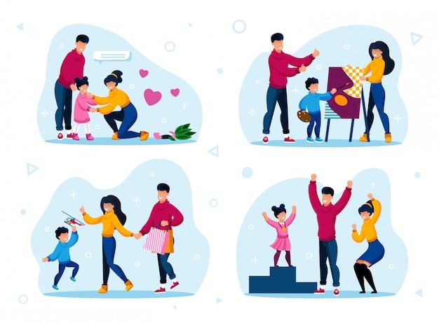 Familienleben routinen und aktivitätsarten