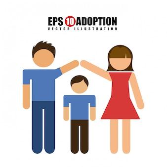 Familienliebe Premium Vektoren