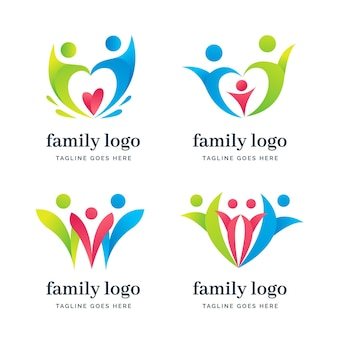 Familienlogo-sammlung