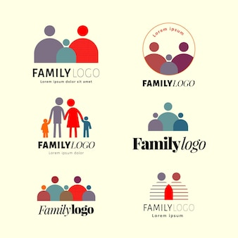 Familienlogo-sammlungskonzept