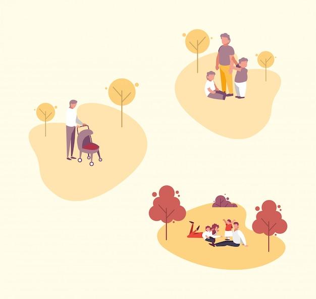 Familienmitglieder außerhalb