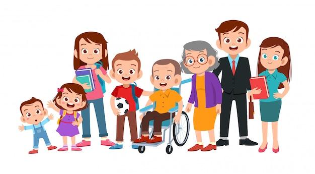 Familienporträt zusammen