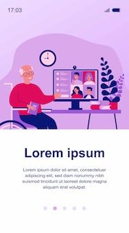 Familientreffen online-illustration
