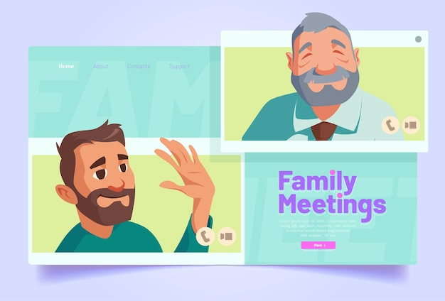 Familientreffen per online-videoanruf