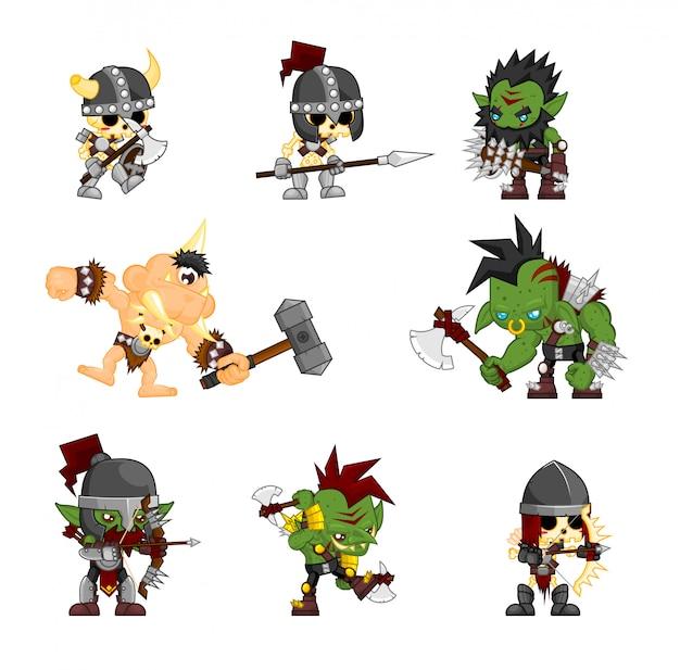 Fantasie monster charakter abbildung
