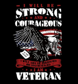 Fantastische amerikanische veteranenarmeeillustration