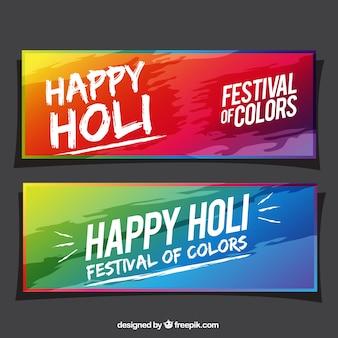 Fantastische banner für fest der farben